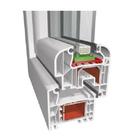 Висококачествена ПВЦ дограма с 5 камерни профили, тип Обло крило, от LineaPlast